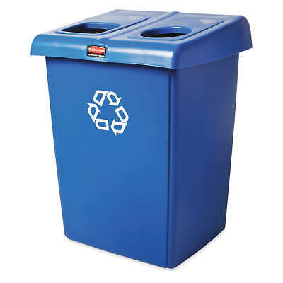 RUBBERMAID Plastic Recycling Station,Blue,46 gal., 1792339, Blue
