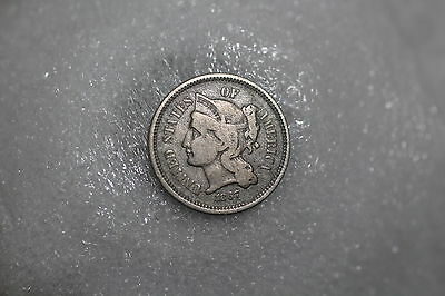 Usa 3 Cents 1867 Nice Details A64 #8888