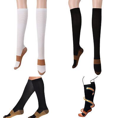 Women Slim Leg Varicose Veins Sleep Compression Support Socks Thigh Stocking