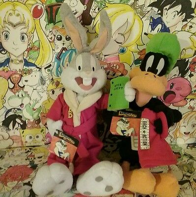 """RARE HTF Bugs Bunny And Daffy Duck back in Action plush 17"""""""