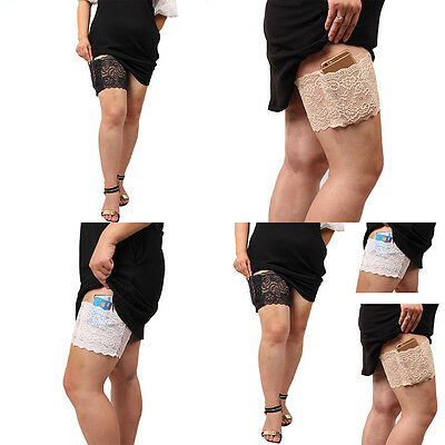 Thigh Bands with pocket Non Slip Lace Elastic Women Fashion   Sock Anti-Chafing