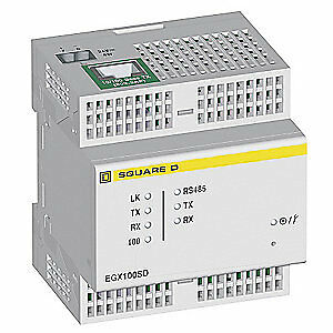 SQUARE D Ethernet Gateway,2 and 4Wire,RS485/RS232, EGX100SD