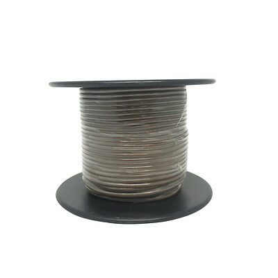 NEW Brown Light Duty Hook-up Wire - 25m WH3002