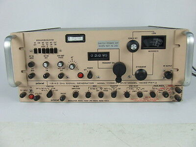 Polarad 1106E-FT Signal Generator 1.8 GHz up to 4.5 GHz with Modulator 1020T
