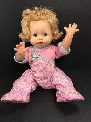 """MATTEL Little Mommy Walk N Giggle Interactive Doll 2008 N7776 16"""" FISHER PRICE"""