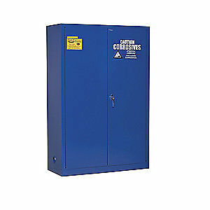 EAGLE Galvanized Steel Corrosive Safety Cabinet,Blue,43 In. W, CRA-47, Blue