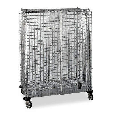 METRO Steel Wire Security Cart,900 lb.,48 In. L, 3W571, Silver