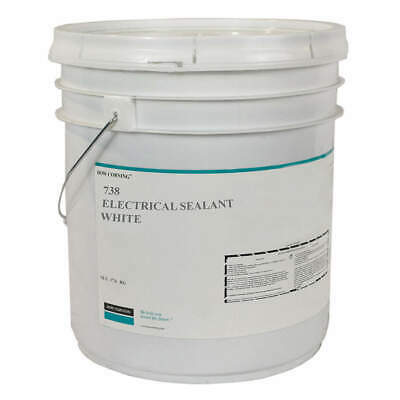 DOW CORNING Sealant,Silicone Base,White,Pail, 1907824, White