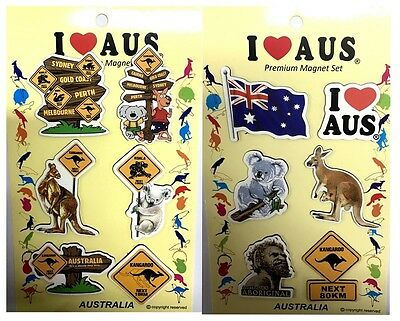 4packs/24pc Australian Souvenir Fridge Magnets Assorted AU Road Sign
