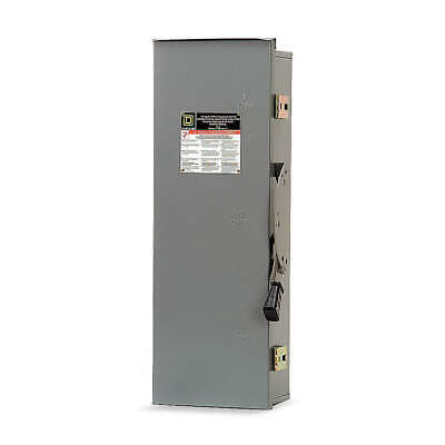 SQUARE D Safety Switch,600VAC,3PDT,60 Amps AC, DTU362RB