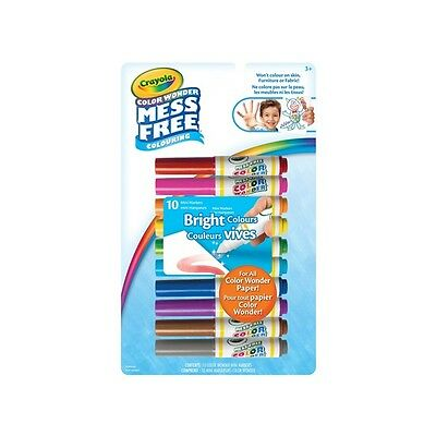 Crayola Color Wonder Mess Free Coloring 10 BRIGHT COLORS