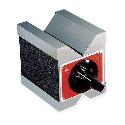 STARRETT Steel Magnetic V-Block,1 3/4 In Capacity, 566