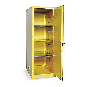 EAGLE Galvanized Steel Flammable Safety Cabinet,48 Gal.,Yellow, 1946, Yellow