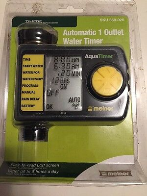 Melnor Automatic 1-Outlet Hose Timer 3015 Water Garden Watering Controller