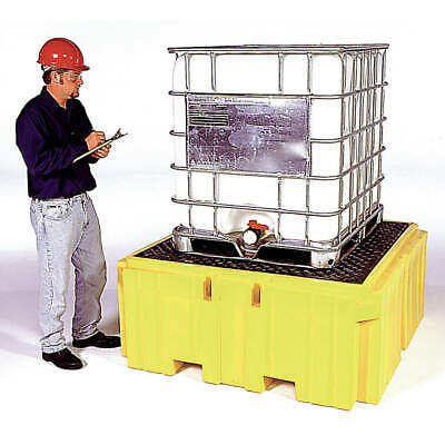 ULTRATECH Polyethylene IBC Containment Unit,62 In. L,28 In. H, 1157, Yellow