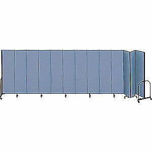 SCREENFLEX Partition,24 Ft 1 In W x 6 Ft H,Blue, CFSL6013 BLUE, Blue