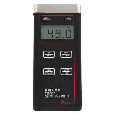 DWYER INSTRUMENTS Digital Hydronic Manometer,500 psi, 490A-5