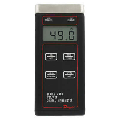 DWYER INSTRUMENTS Digital Hydronic Manometer,200 psi, 490A-6