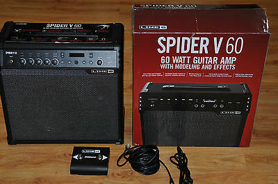 Line 6 SPIDER-V-60 60W Guitar Amplifier With Modeling & Effects / Excellent Cond
