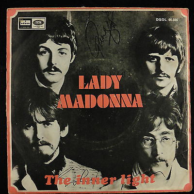 "7"" 45 single The Beatles ‎Lady Madonna : Inner Light SPAIN DSOL 66.086 VG+/VG-"