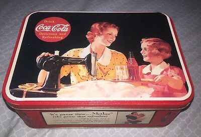 """VINTAGE - Coca-Cola COKE """"It's pause time... Mother"""" Tin Can Container - 1993"""