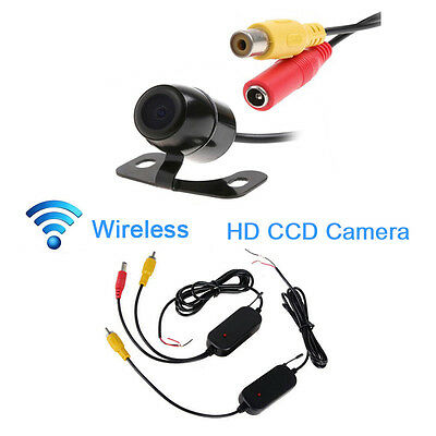 2.4Ghz Wireless CCD Backup Rear View Reverse Camera Video Transmitter Receiver