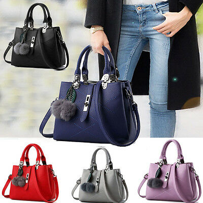 Fashion Women Handbag Leather Messenger Shoulder Bag Large Tote Ladies Purse Bag