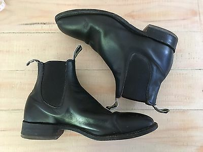 RM Williams Boots Size 9.5 G (US 10.5) Men's Black Leather