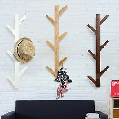 Wooden Coat Rack Hat Rack Stand Clothes Hanger Cloth Rack Stand Tree Style