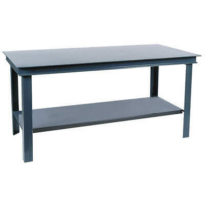 "DURHAM Workbench,Steel,72"" W,36"" D, HWB-3672-95, Gray"