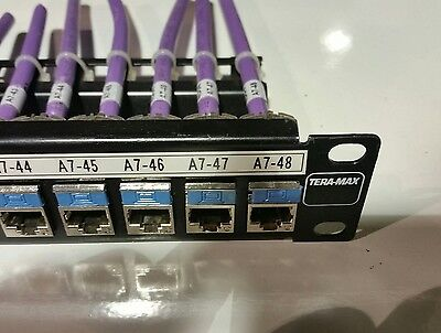SIEMON Teramax  cat 6 A jacks ports 24 patch panel ethernet communication cable