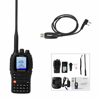Wouxun KG-D901 DMR Funkgeräte UHF 5W digital & analog Two Way Radios+USB Cable