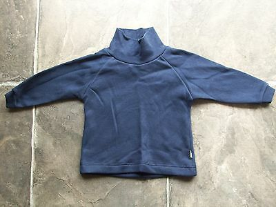 BNWT Baby Boy's Bonds Navy Cotton Knit Fleecy Skivvy Size 0