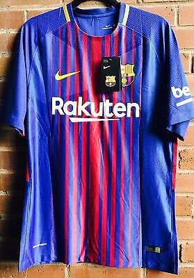 FC Barcelona 2017/18 Lionel Messi Player Version Match Jersey, Men's Size Medium