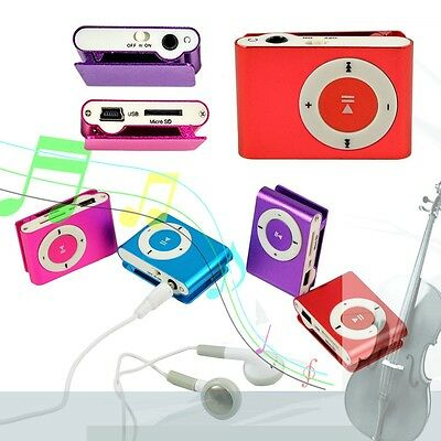 Mini Clip-on MP3 Player with Micro TF/SD Slot Portable Metal USB 2.0