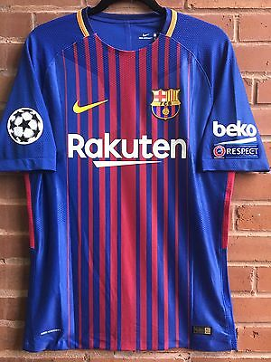 FC Barcelona Luis Suarez 2017/18 Player Version Jersey, Men's Size M.