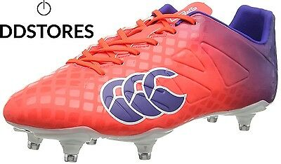 Canterbury Speed Club 6 Stud, Chaussures de Rugby Homme, Rouge X20...