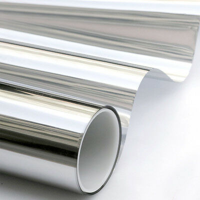 Silver One Way Mirrored Glass Window Film Reflective  Privacy Tint Self Adhesive