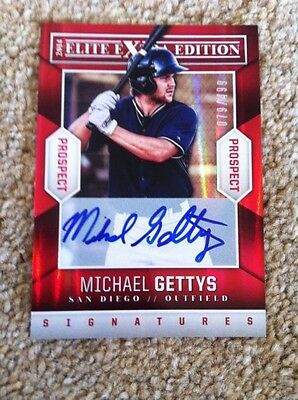 +++ Michael Gettys 2014 Panini Signed Prospect Card #91 - San Diego Padres +++