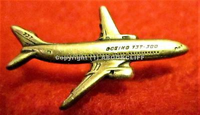 STERLING SILVER BOEING 737 - 300 AIRCRAFT TIE Pin MINT