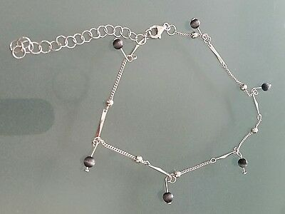 Gorgeous Sterling Silver Anklet Brand New with adjustable lengths
