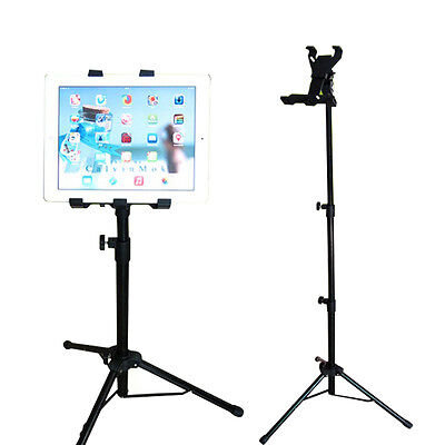 Foldable Tripod Multi Function Music Stand Holder Mount Metal Rack For Tablet PC