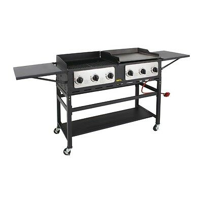 Buffalo 6 Burner Combi BBQ Grill and Griddle EBCP240-A