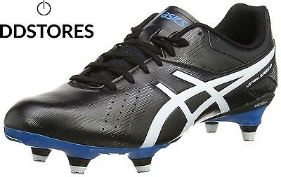 ASICS Lethal Speed St, Chaussures de Rugby homme Noir black white methyl...