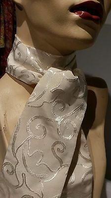 Dressage, Showing, Hunting, Equestrian Stock, Self tie, Cream