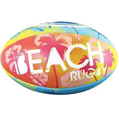 Optimum Sport Hand Stitched Rubber Outer Balanced Weight Beach Print Rugby Ball
