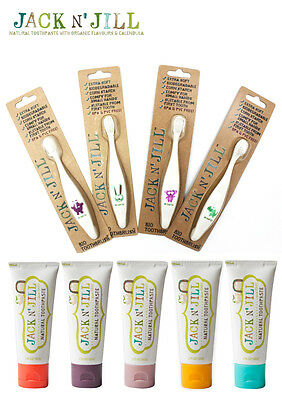 Jack N' Jill Natural Children's Toothpaste 50g & Toothbrush