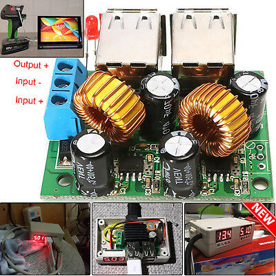 USB 4 Port DC 12V 24V 40V To 5V 5A Step Down Power Supply Module For Mobiles