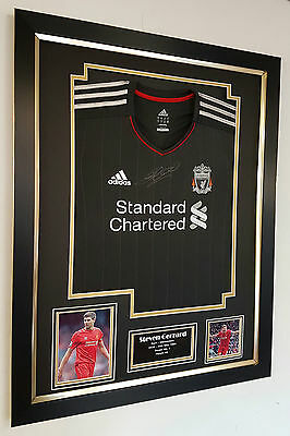 ** Rare STEVEN GERRARD of Liverpool Signed Shirt Autograph Display **