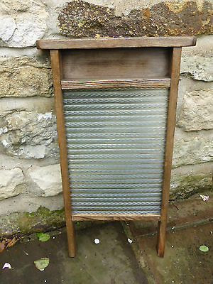 Victorian Washboard. Glass with Pine + Beech Wood.
